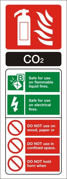 Carbon Dioxide Fire Extinguisher Portrait Identity Sign