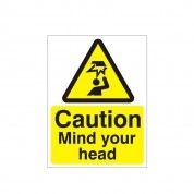Caution Mind Your Head Hazard Warning Sign
