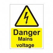 Danger Mains Voltage Electrical Hazard Warning Sign