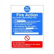 Fire Action Sign ACT 09