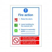 Fire Action Sign ACT 18
