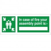 Fire Assembly Point Intruction Sign