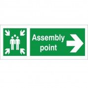 Fire Assembly Point Right Direction Sign