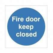 Fire Door Keep Closed Instruction Sign