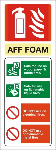 Foam Fire Extinguisher Portrait Identity Sign