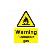 Warning Flammable Gas Hazard Warning Sign