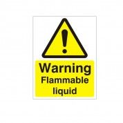 Warning Flammable Liquid Hazard Warning Sign